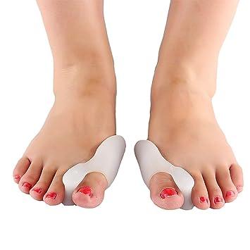 2 separadores de dedos de gel y protector de silicona para juanetes, corrector de juanetes, alisador para mujeres y hombres, uso en zapatos: Amazon.es: ...