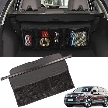 for Honda CR-V CRV 2017 2018 Interior Retractable Rear Trunk Cargo Luggage Security Shade Cover Black 1 Set