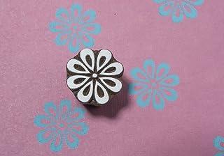 Blockwallah Simple Flower 035 Wooden Block Stamp