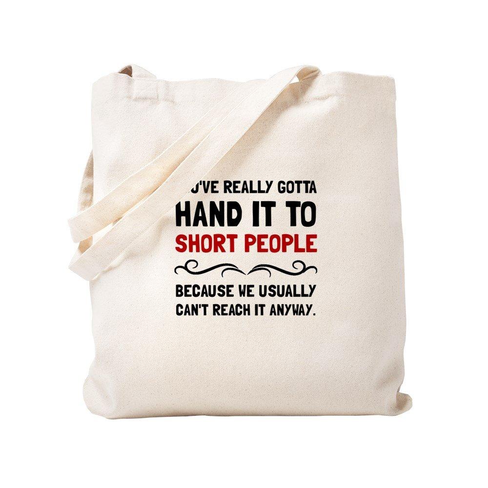 CafePress – Short People – ナチュラルキャンバストートバッグ、布ショッピングバッグ S ベージュ 1310757339DECC2 B0773TPH32 S