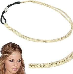 wiipujewelry WIIPU 2 LINE Metal Headband Stretch Hairband Elastic Hair Accessories(WIIPU-C132)