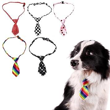 Gosear 5 PIEZAS Collar de Corbata Pajarita para Mascota Perro Gato ...