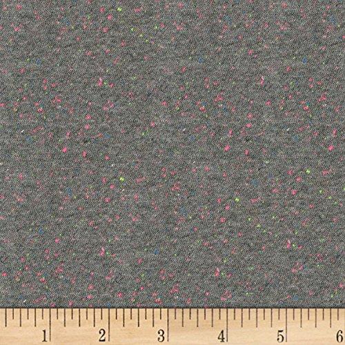 Robert Kaufman Kaufman Speckle Cotton Jersey Gray Fabric by The Yard,