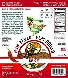 Raw Vegan Flat Bread, Spicy, Paleo, 5.3 Oz, 3 Wraps