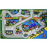 Childrens Area Rugs Mybecca Kids Rug Harbor Map in Grey Children Area Rug for Playroom & Nursery - Non Skid Gel Backing 3' x 5'