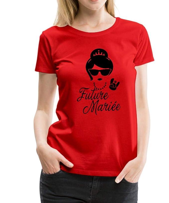 8f5253ccee2 Spreadshirt EVJF Future Mariée Princesse T-Shirt Premium Femme  Amazon.fr   Vêtements et accessoires