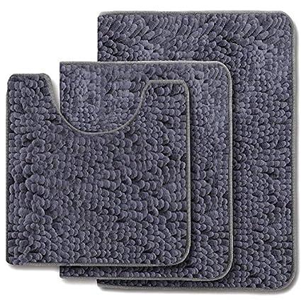 Amazon Com Mayshag Bath Rug Set 3 Piece Bathroom Contour Rugs Combo