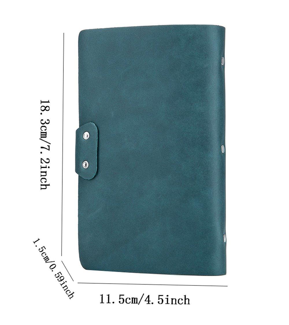 iSuperb Porte-cartes de visite Cartes Livret Dossier En Cuir pour ID Cr/édit Cartes Capacit/é 90 cartes 18.3x11.5x1.5 cm