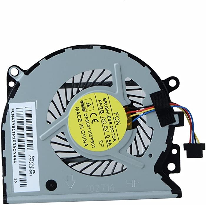New Laptop CPU Cooling Fan Replacement for HP Envy 15-u050ca 15-u010dx 15-u025nd 15-u011dx 15-u000nc 15-u001ng 15-u001na 15-u050sr 15-u060nz x360 Convertible PC