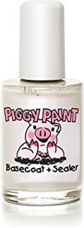 product image for Piggy Paint 100% Non-toxic Girls Nail Polish, Safe, Chemical Free, Low Odor for Kids - 0.5 Fluid Ounce - Base Coat & Sealer - Great Stocking Stuffer for Kids