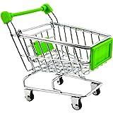 【ノーブランド 品】ミニショッピングカート トロリーおもちゃ 全9色選べる - グリーン