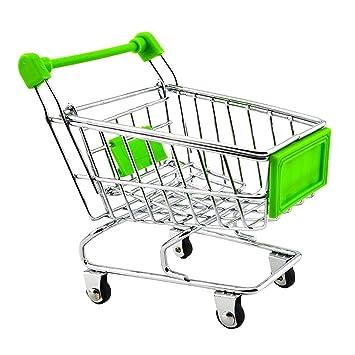 Mini Carro De Compras Carro De Juguete Verde: Amazon.es: Juguetes y juegos