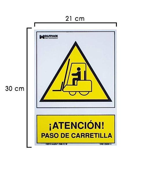 Wolfpack 15051265 Cartel Atencion Paso Carretilla 30x21