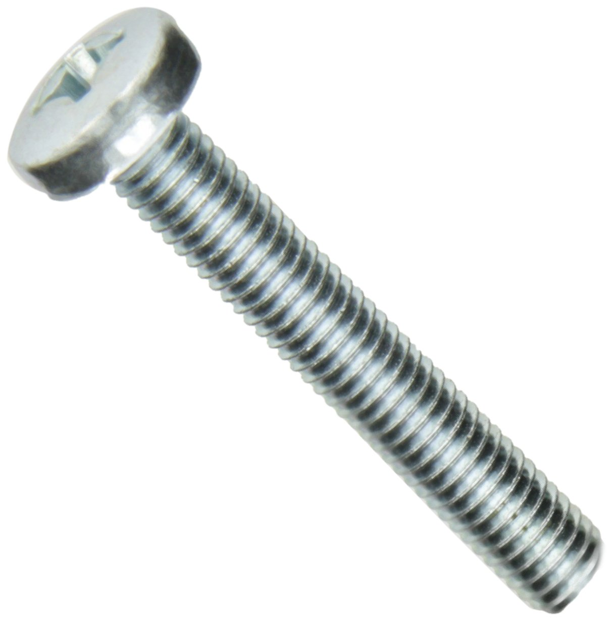 Pan Head Fully Threaded Small Parts FSCM850PPSZ 50mm Length Meets DIN 7985 Zinc Plated Finish M8-1.25 Metric Coarse Threads Pack of 5 Steel Machine Screw Phillips Drive