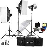 Neewer® 900W (300W X3) Photographie professionnelle Studio Flash pour kit de Portraits, Studio et vidéo coups (MT 300am)