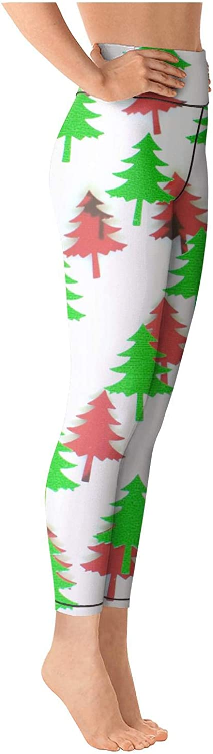 Young Women High Waist Ultra Soft Christmas Trees Tights Active Pants for Yoga Leggings