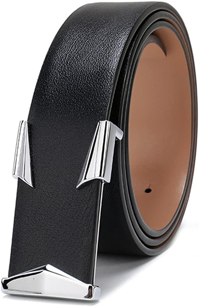 XUEXUE Mens Business Belt Leather Pin Buckle Simple Casual,Adjustable Fashion Work Active Basic Leather,Casual Wear /& Cowboy Wear /& Work Clothes Uniforms,A,115