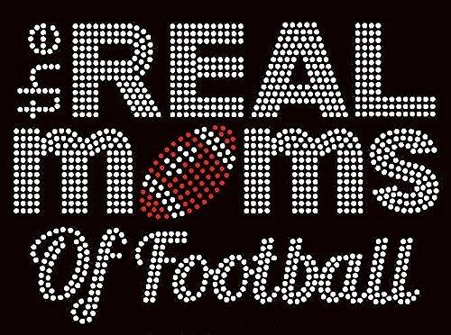 (Real Moms of Football Rhinestone Transfer Iron On Hot Fix Motif Bling Applique - DIY)