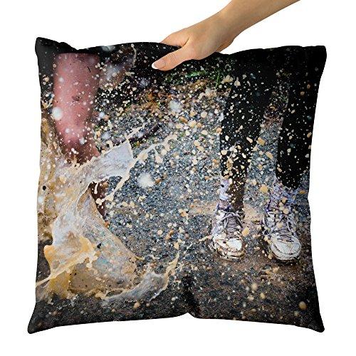 Westlake Art Decorative Throw Pillow   Splash Wet   Photography Home Decor Living Room   16X16in