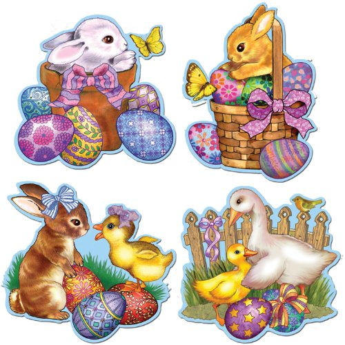 Easter Cutouts Party Accessory (1 count)
