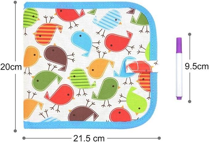 15 PCS Enfant Dessin Livre Enfant Doodle Planches de Bloc de Dessin Effa/çable de Planche /à Dessin Effa/çable de Carnet de Dessin Effa/çable Tableau D/écriture R/éutilisable Tableau /à Craie Livre JAANY