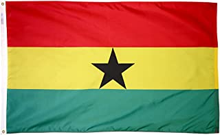 product image for Annin Flagmakers Model 192966 Ghana Flag 3x5 ft. Nylon SolarGuard Nyl-Glo 100% Made in USA to Official United Nations Design Specifications.