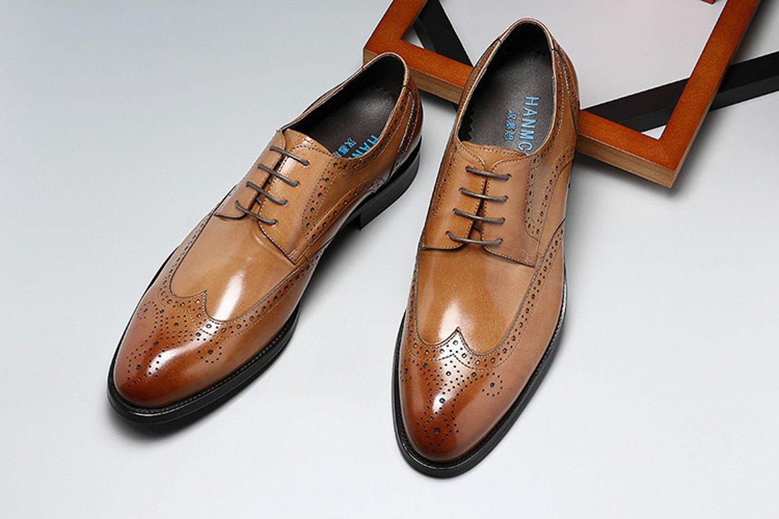 GDXH GDXH GDXH Herren Lederschuhe Klassische Herren Echtleder Schuhe Lace Up Brogues Formal Dress Hochzeitsschuhe Formale Schuhe 1f92b9