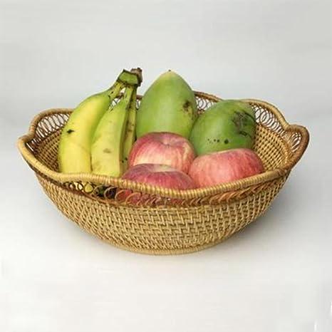 Moxin Bandeja de fruta fruta placa rectangular de Immagazzinaggio cesta Pan Bandeja de frutas cuenco Cocina