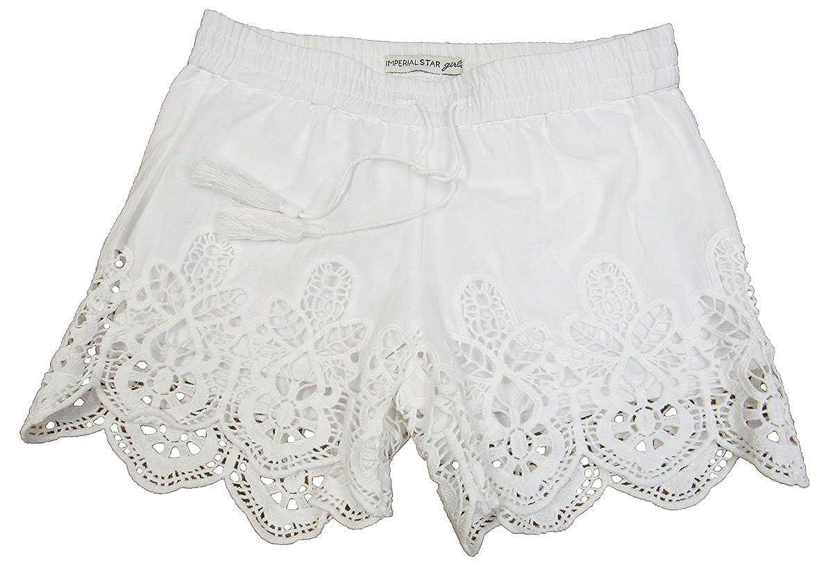 Eyelet Shorts White 16 7-16 Imperial Stars Big Girls