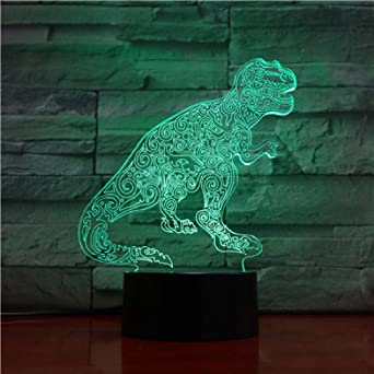 wangZJ Lámpara de ilusión 3d / Luz de noche de regalo de ...