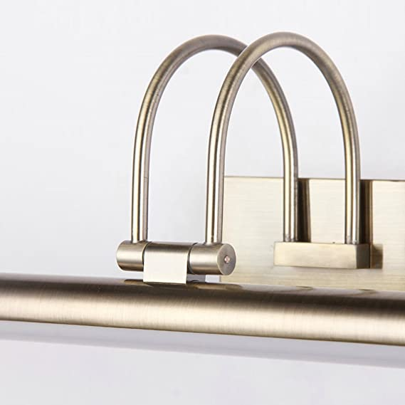 Amazon.com: nclon moderno de metal espejo de baño acrílico ...