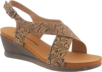 05d94c5172 Amazon.com | BEARPAW Women's Opal Comfort Slingback Wedge Sandals |  Platforms & Wedges