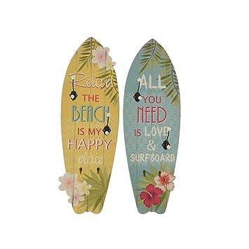 Perchero modelo tabla de surf 2 colores surtidos: Amazon.es ...