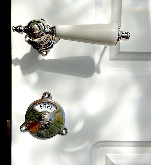 antikas - No de porte pour toilette, rouge pivotant libre + ...