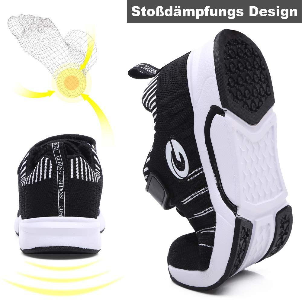 GUFANSI Basket Athletisme Fille Gar/çon Scratch Chaussure de Sport Running Enfant pour Int/érieur