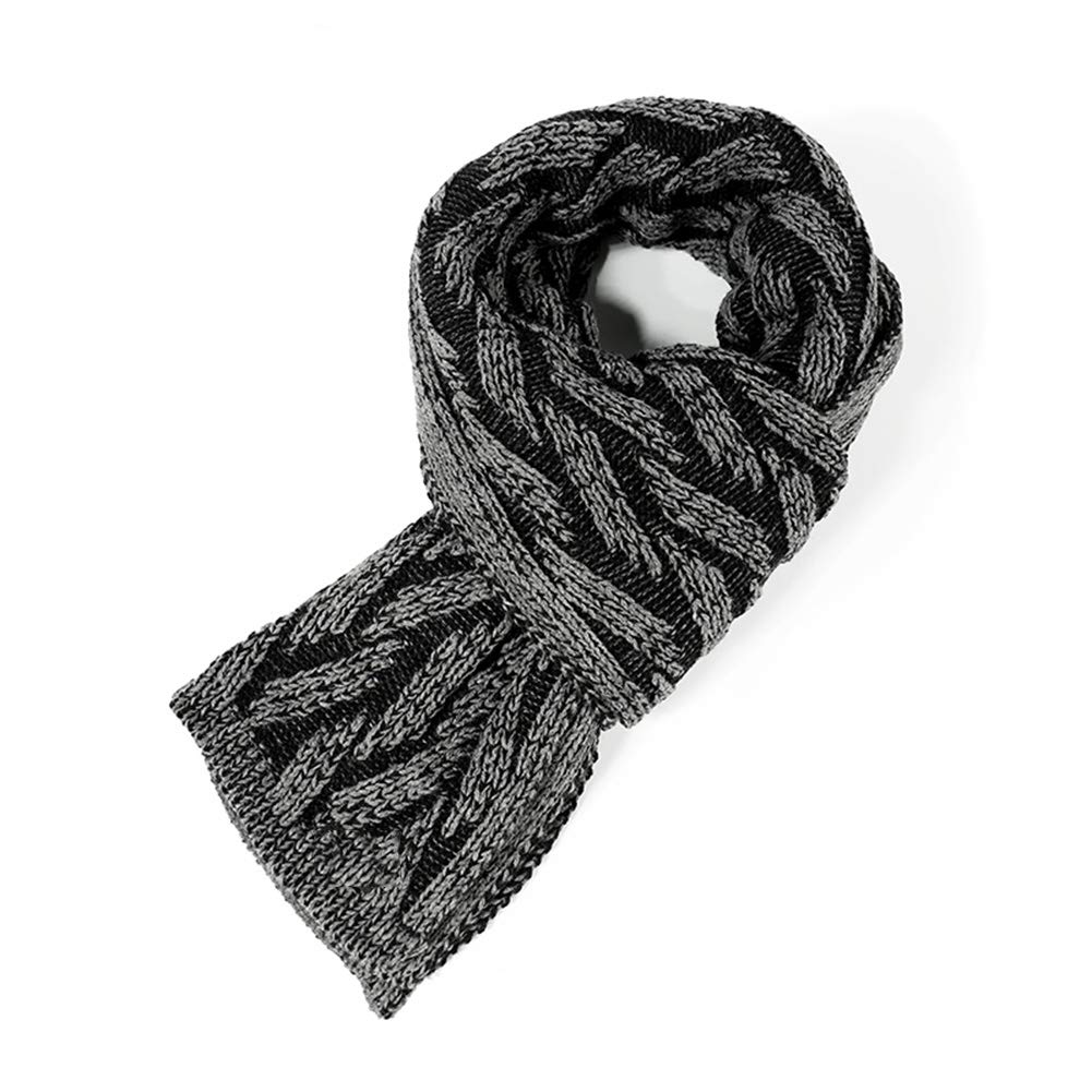 Black Tingting Scarves Wraps Scarf Wrap Shawl Blanket Autumn and Winter Knitting Bib Korean Version Thicken Keep Warm Wool (color   Red, Size   186  32cm)