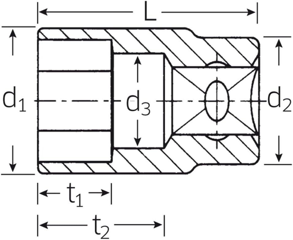 Vaso 3//8 Hexagonal Stahlwille 456 18