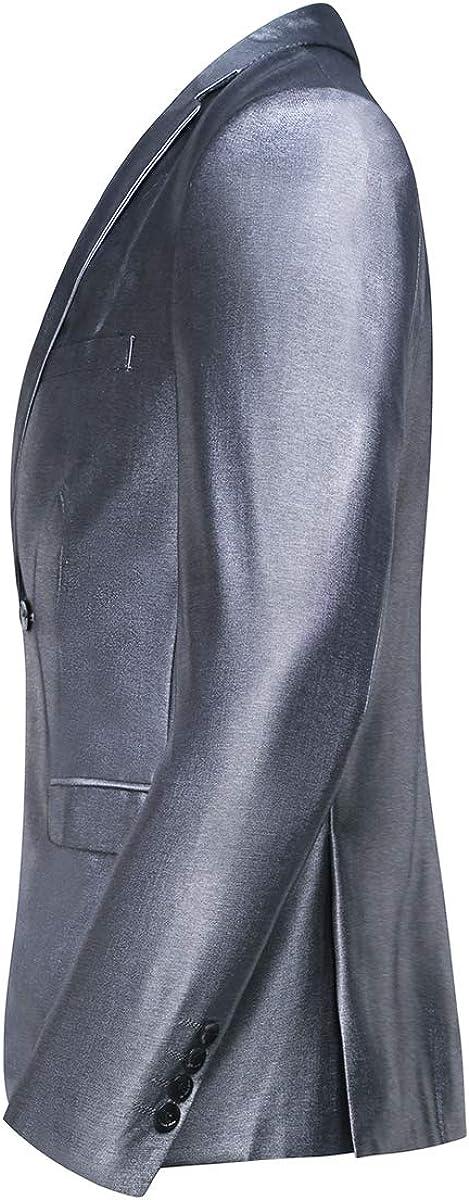 Traje para Hombre 2 Piezas Slim Fit Elegantes Vestir Trajes 2 Bot/ón Blazer Chalecos y Pantalones