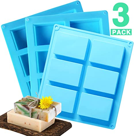 PERNY Soap Molds Rectangle Silicone Soap Mold 3 x 2 in, 4 oz