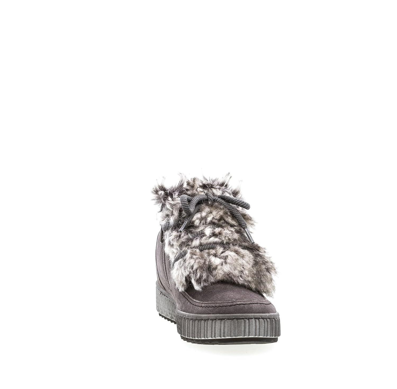 Gabor Damen Schnürstiefelette grau 38 Leder von Größe 38 grau bis 40 2c8552