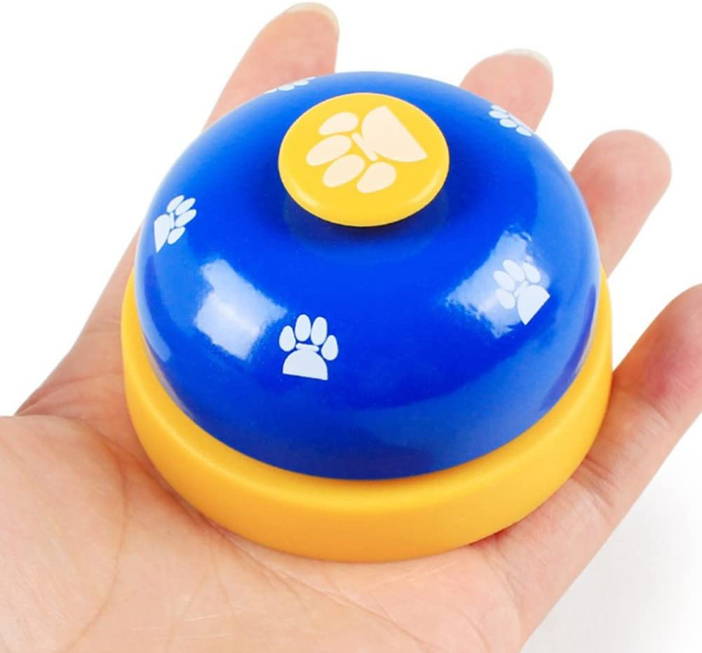 TrifyCore Pet dog Bell Bell for training Potty training and as a communications device Doggie Bell To Go Outside 1 Piece Blue Small pet supplies
