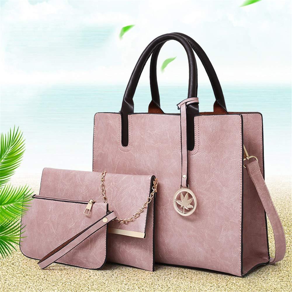Zgsjbmh Frauen Handtaschen Daughter Package PU Female Bag Einfache Handtasche Uni Schulter Tragbare Diagonale Tasche Damen Handtasche (Farbe   Rosa) B07NMRWGT6 Henkeltaschen Bekannt für seine hervorragende Qualität