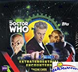 Wowzzer! Brand New! We are Proud to offer this HUGE 2016 Topps Doctor Who Extraterrestrial Encounters HUGE Factory Sealed Retail Box! This Awesome HUGE Factory Sealed Box includes 16 Packs and 8 Cards per Pack for a Total of 128 Cards! 2016 Topps Doc...