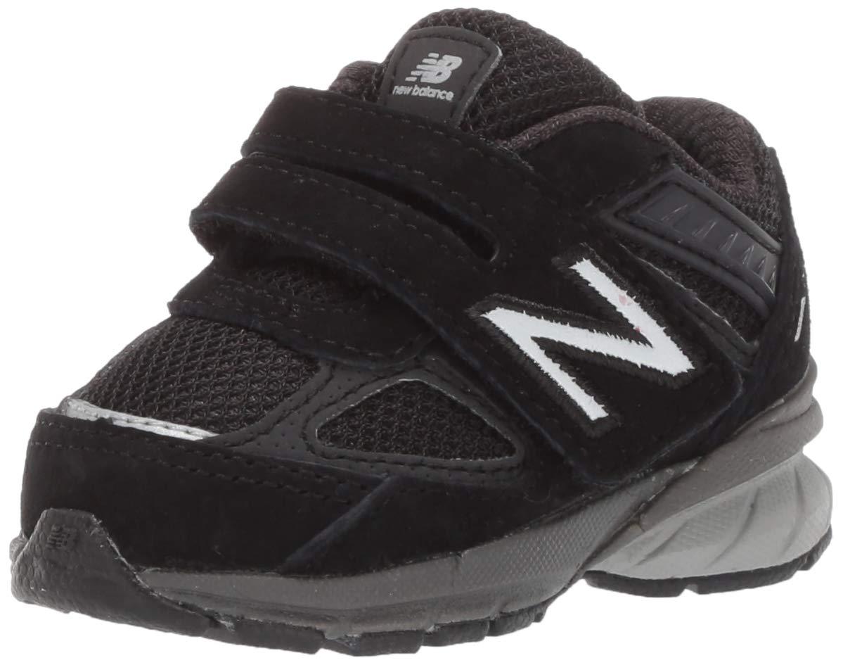New Balance Boys' 990v5 Running Shoe, black/black, 4 W US Toddler by New Balance