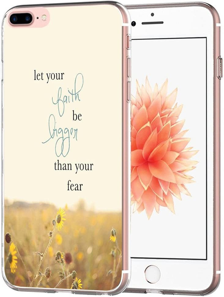 Case for 8 Plus Writings Motivational - Topgraph [Exact Slim Fit Clear with Design Full Coverage] Bumper Compatible for iPhone 8/7 Plus [Writings Inspirational from Books]