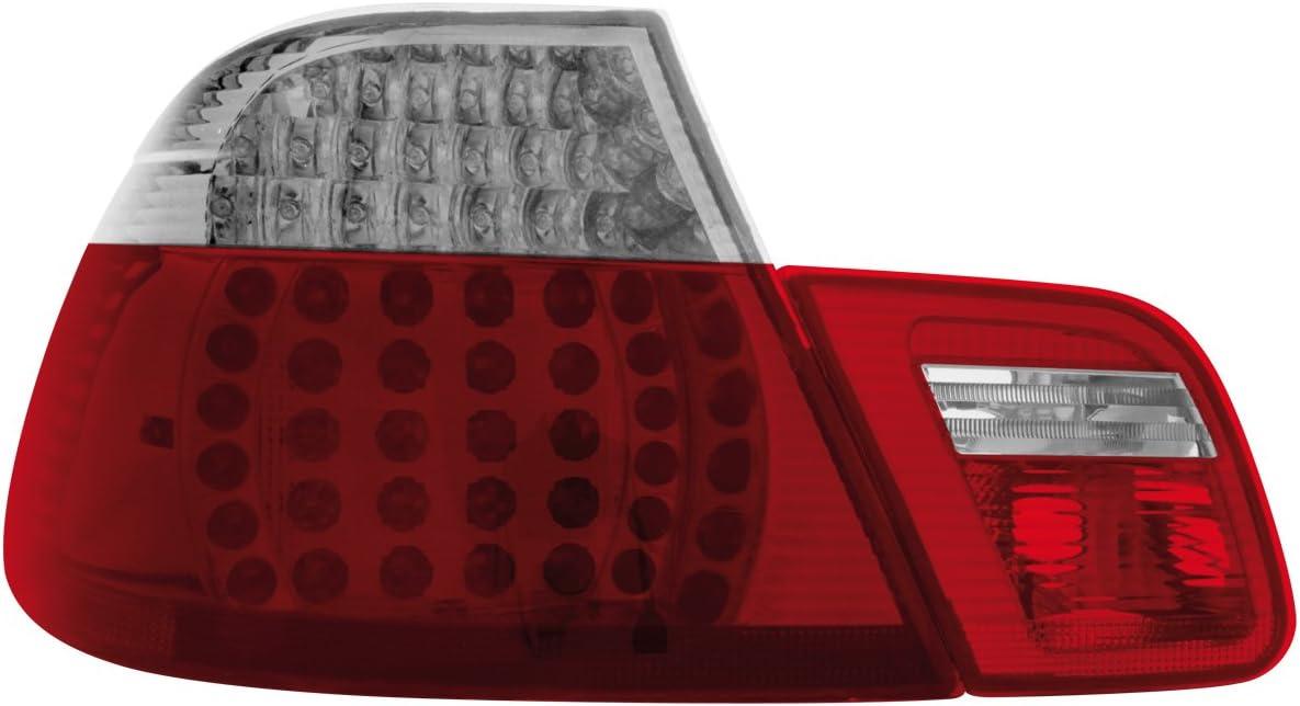 Dectane Rb20dlrc Led Rückleuchten Bmw E46 Coupé 98 02 Rot Crystal 4teilig Auto