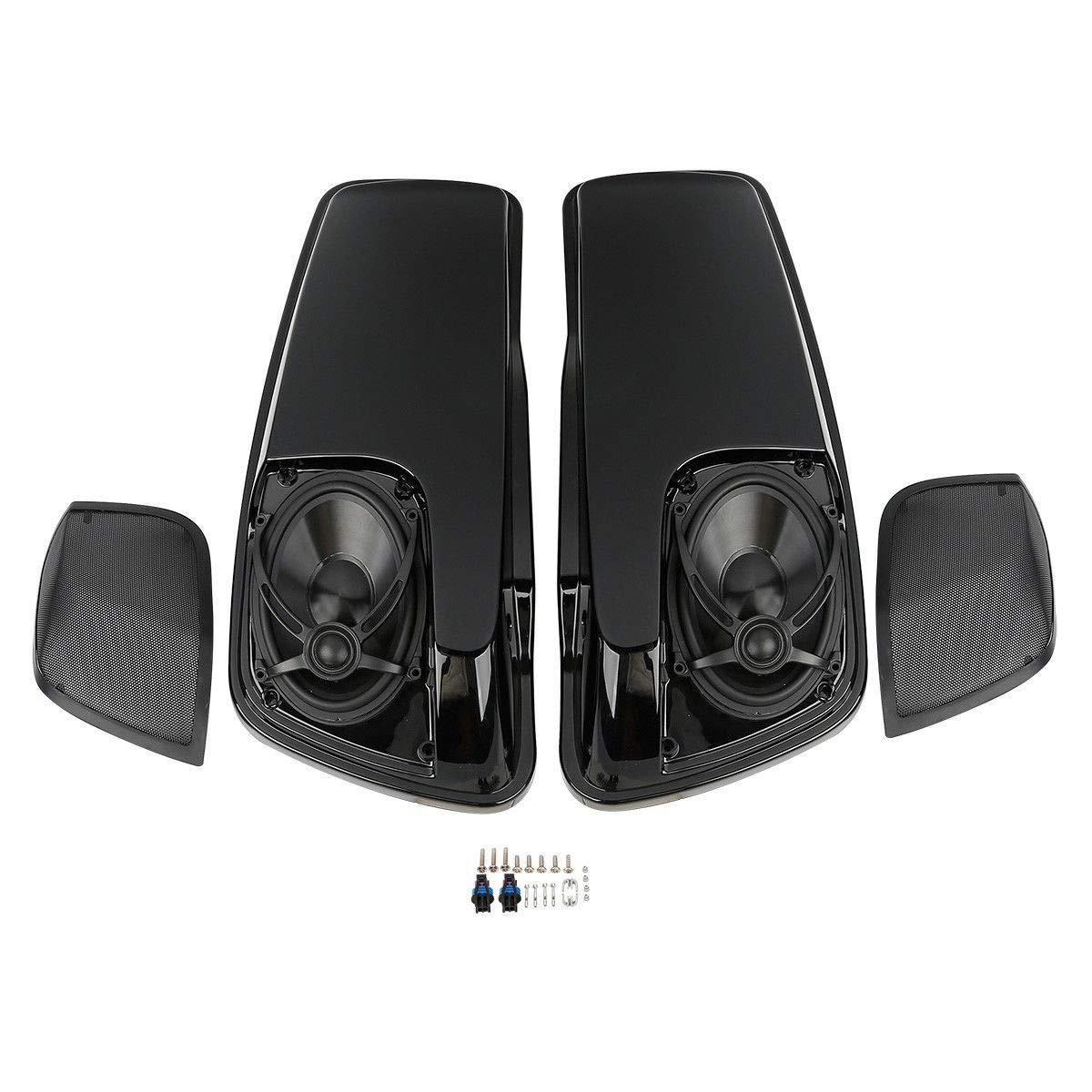 XFMT 5x7'' Saddlebag Lid Speaker w/Grill for Harley Touring FLT FLHT FLHTCU 2014-2017