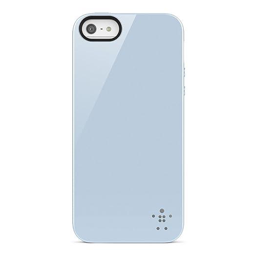 5 opinioni per Belkin F8W158VFC02 Opaque Gloss- Cover Custodia per iPhone 5/5S/SE, Ghiaccio
