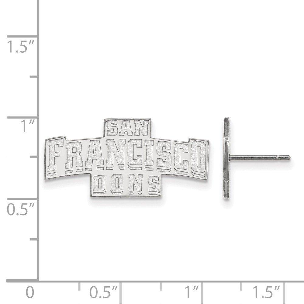 Collegiate University of San Francisco Sterling Silver LogoArt University of San Francisco Small Post Earrings