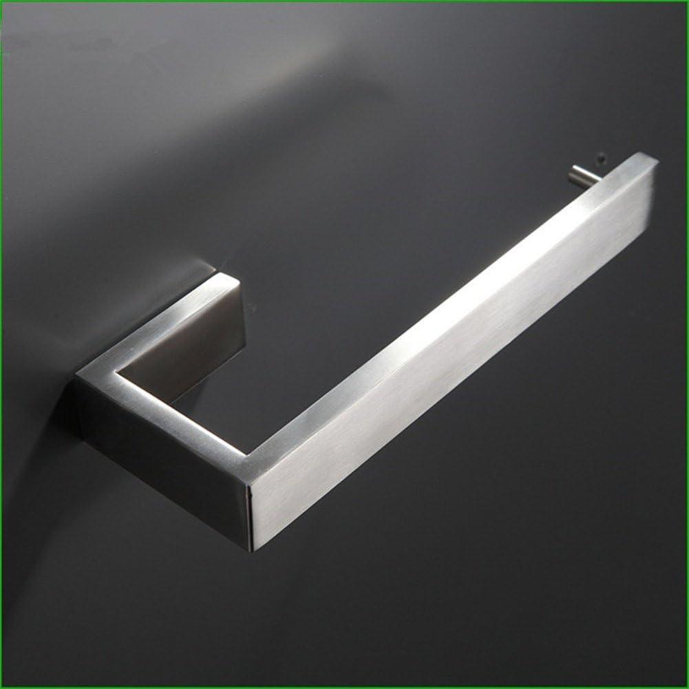 Porta Rotolo Tessuto Portafoto Argento Semplice Design in Acciaio Inox Finitura Nichel Spazzolato WOMAO Porta Carta igienica WC